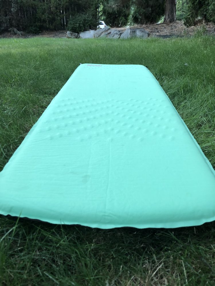 inflatable air mattress for sleep in back country