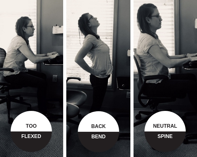 Workplace exercise - back bend