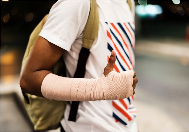 Ace wrap arm for compression