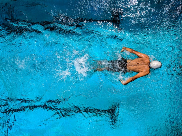 swim laps for exercise in summer