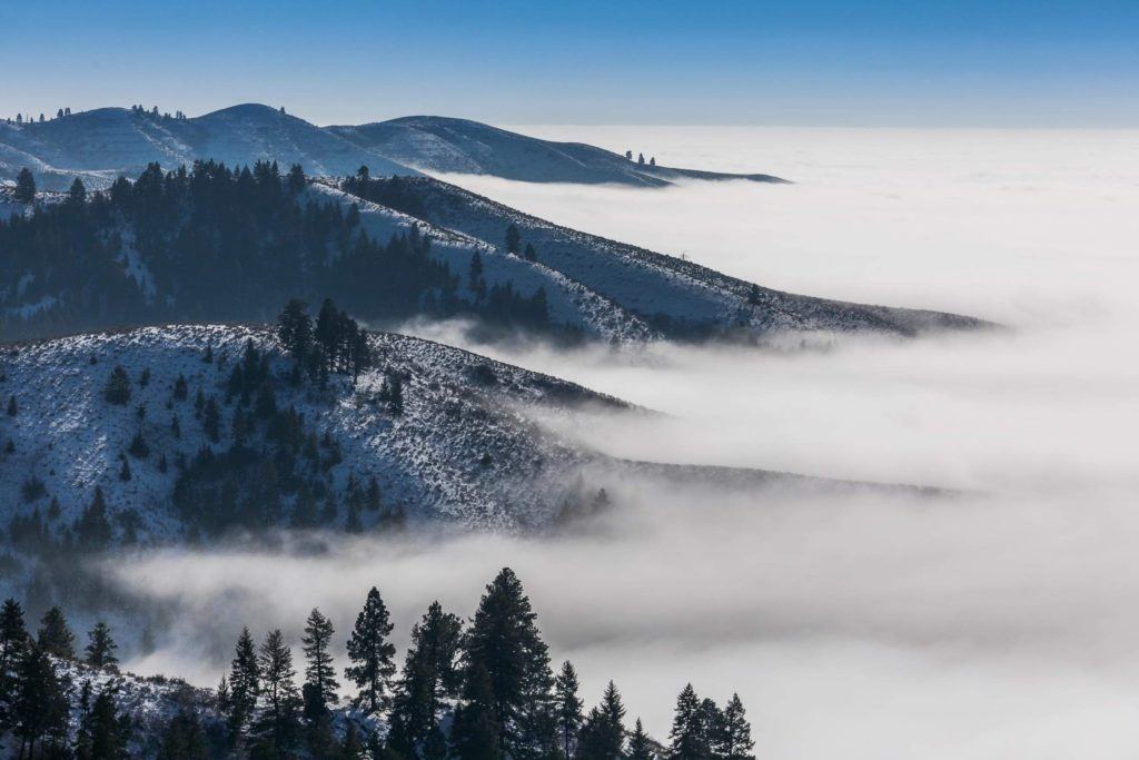 Inversion in the Treasure Valley, viewed from Bogus Basin
