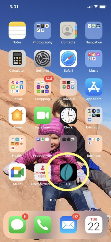 save your home exercise program to your smart phone home screen for easy access