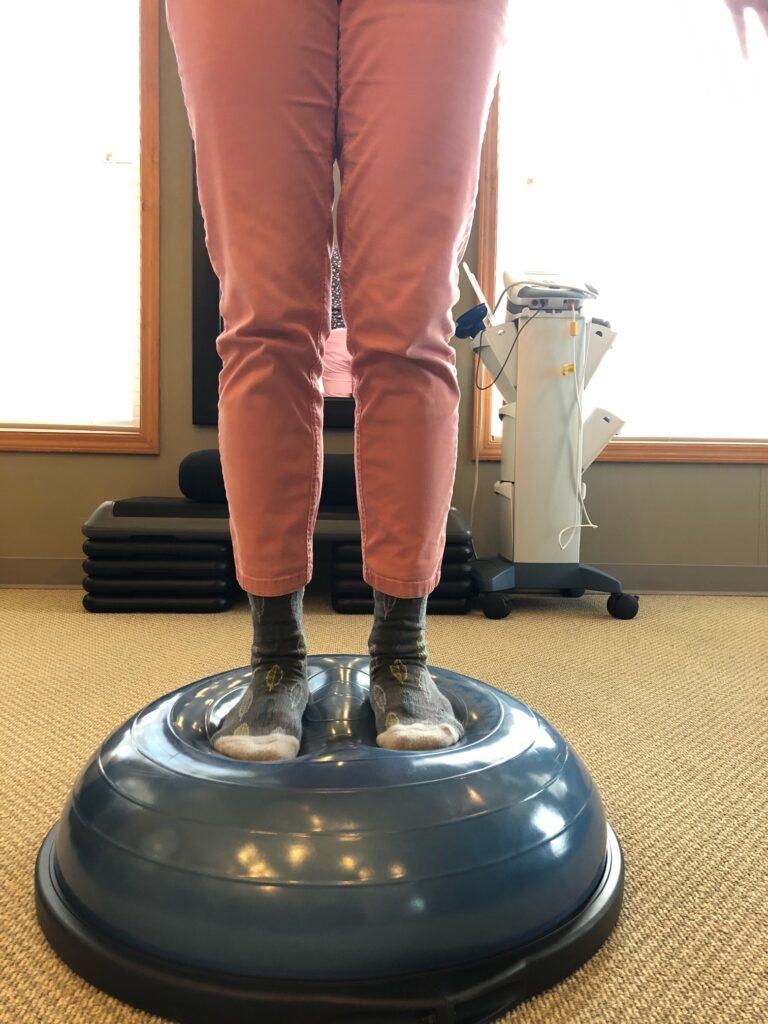 BOSU for balance exercise